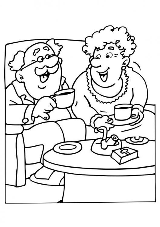 disegni per la festa dei nonni da colorare