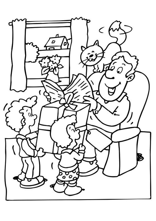 Festa Del Pap 224 Maestra Mary Family Day Coloring Pages