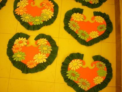 Ecco, i cuori di primavera sono pronti per decorare la vostra aula
