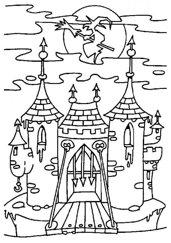 Halloween maestra mary for Disegni di casa chateau francese