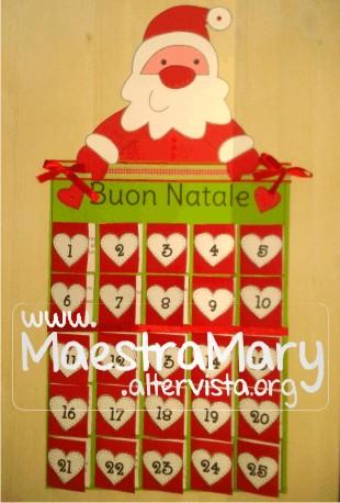 Calendario dell 39 avvento maestra mary for Lavoretti di natale maestra mary