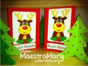 biglietto di Natale con la renna