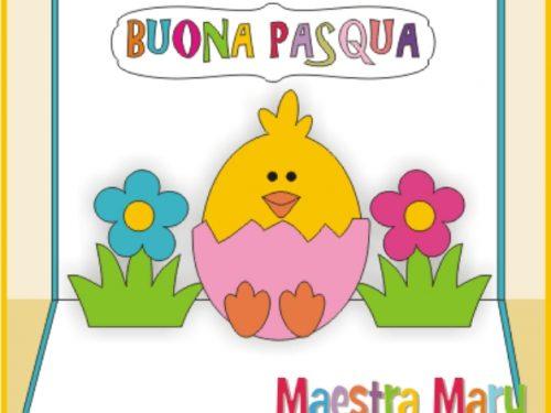 Biglietto pop up di Pasqua