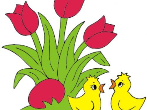 Pasqua Addobbi e Decorazioni con pulcini, uova e fiori