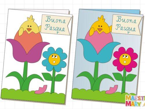 Biglietto – lavoretto di Pasqua da ritagliare