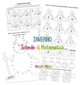 inverno schede di matematica