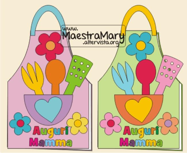 Festa Della Mamma Biglietto Lavoretto Maestra Mary