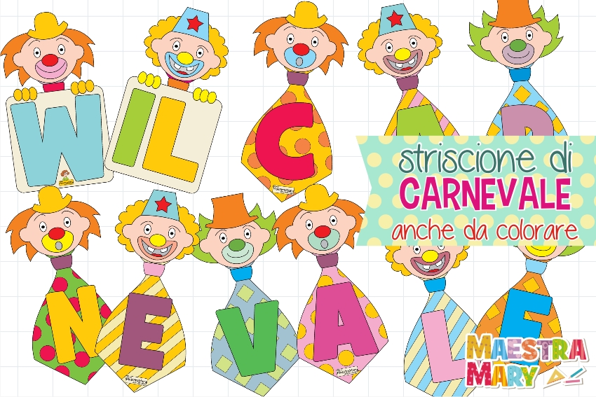 Striscione W Il Carnevale Maestra Mary