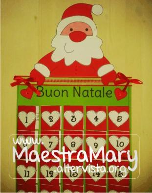 Calendario dell 39 avvento maestra mary for Lavoretti natale scuola infanzia maestra mary