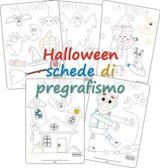 Schede di pregrafismo di Halloween