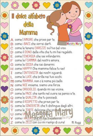 alfabeto della mamma