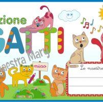 Cartello per la porta dell'aula sezione Gatti