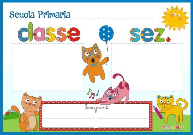 Cartello per la porta dell 39 aula scuola primaria for Addobbare la porta dell aula