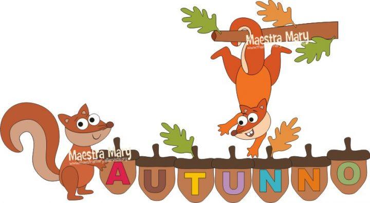 decorazione addobbi autunno scoiattolo