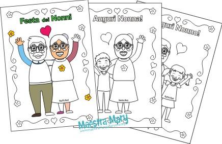 disegni da colorare festa dei nonni