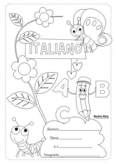 Copertine Quaderni Da Colorare Classe Quinta.Copertine Per Quaderni Di Scuola Maestra Mary
