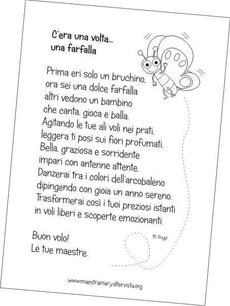 Farfalle Con Poesia Accoglienza Scuola Primaria Maestra Mary