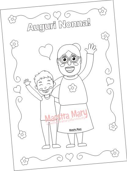 Festa Dei Nonni Disegni Da Colorare Maestra Mary
