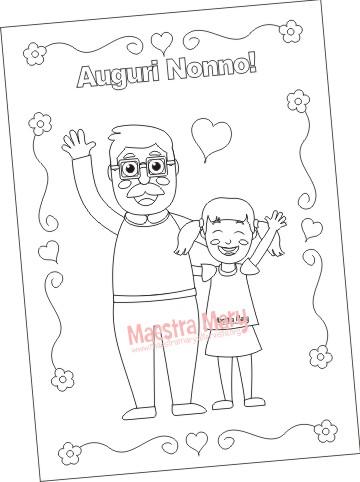 disegno nonno da colorare