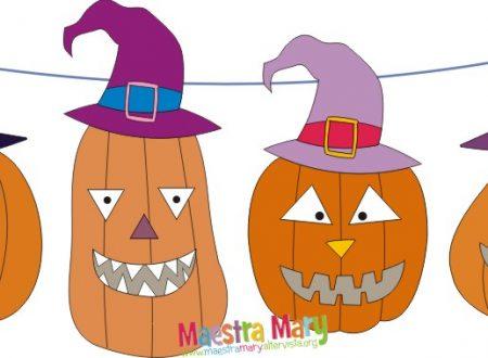 Decorazioni di Halloween – zucche con cappelli