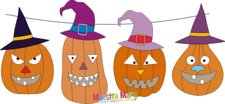 decorazioni di halloween zucche