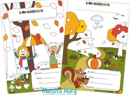 Copertine d'autunno per quaderni di scuola primaria