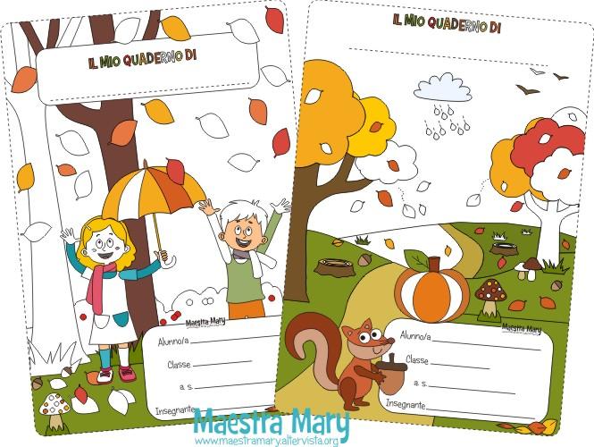Favoloso Copertine d'autunno per quaderni di scuola primaria | Maestra Mary WY13