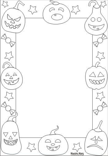 Cornicette Da Colorare Di Halloween Maestra Mary