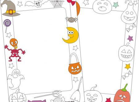 Cornicette da colorare di Halloween