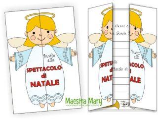 Maestra mary biglietti di natale stampae colorare for Maestra gemma recite di natale