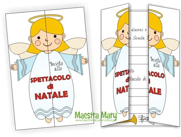 Disegni Di Natale Per Scuola Media.Biglietto Invito Per Lo Spettacolo Di Natale Maestra Mary