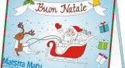 Biglietto di Babbo Natale da colorare