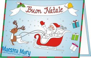 biglietto di Natale da colorare