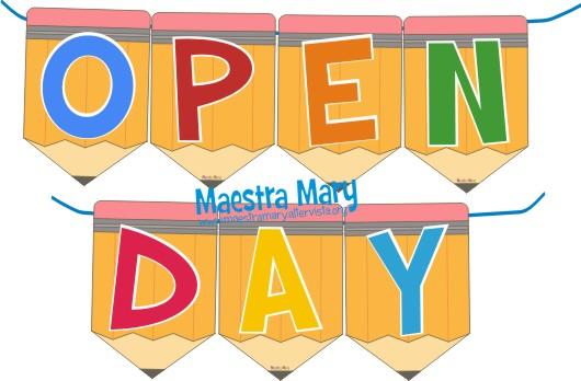 striscione open day