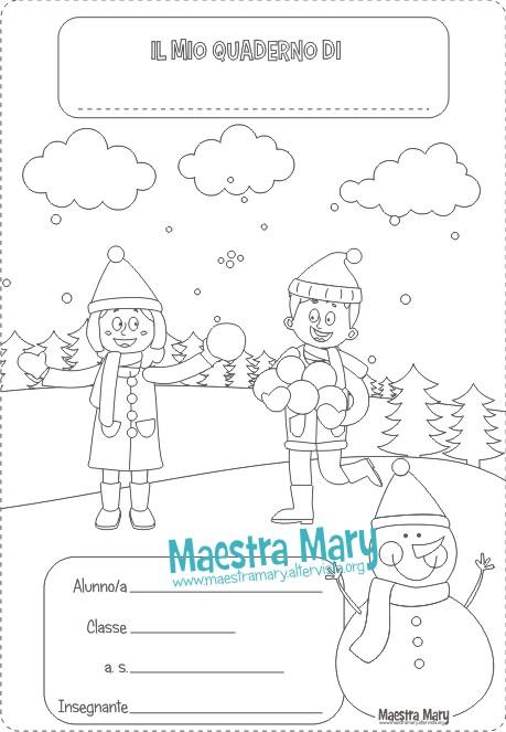 copertina inverno scuola primaria