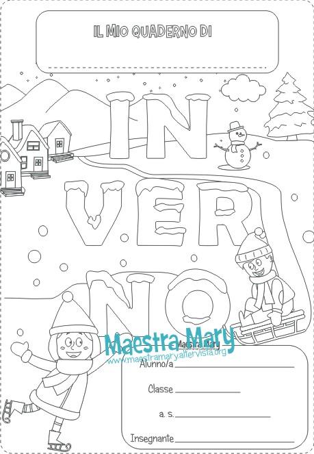 copertina inverno quaderno