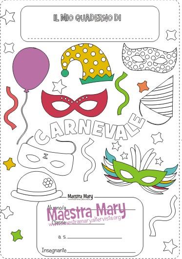 copertina di carnevale da colorare