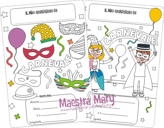 Copertine di carnevale maestra mary for Carnevale maestra mary