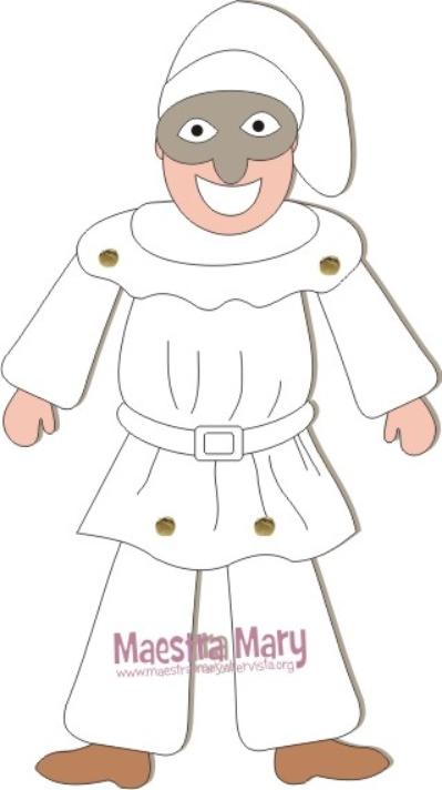 Marionetta di pulcinella maestra mary for Maestra mary carnevale