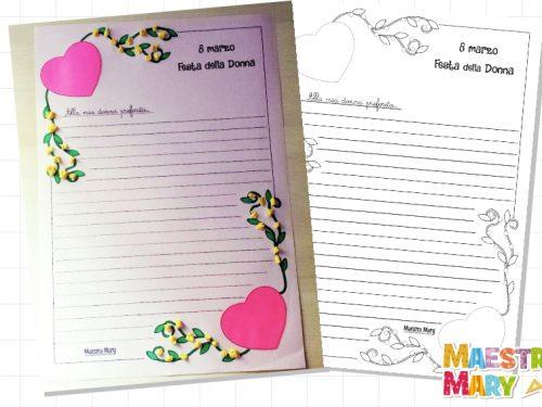 Lettera – lavoretto per la Festa della Donna