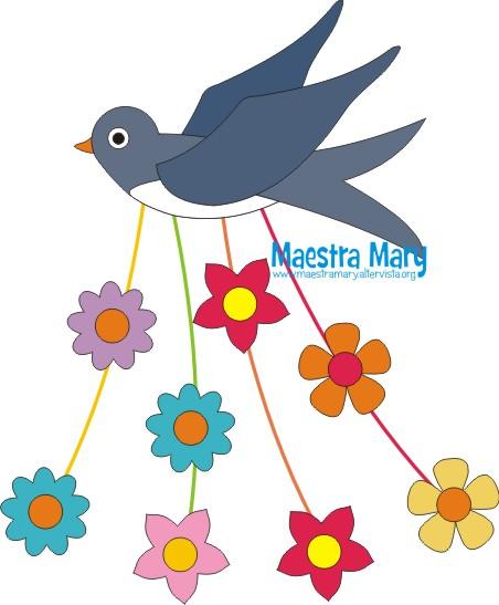 Decorazioni di primavera rondine con fiori maestra mary for Rondine in inglese