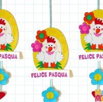 Decorazione di Pasqua con gallina