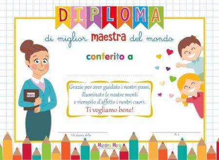 Diploma di Miglior Maestra