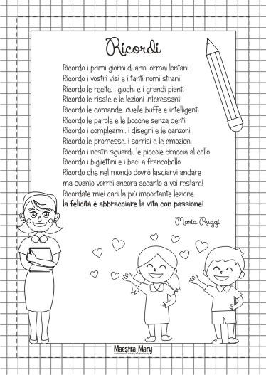 poesia saluto bambini fine anno