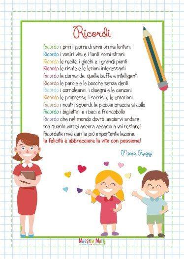 Poesie E Filastrocche Per La Fine Dell Anno Scolastico Maestra Mary