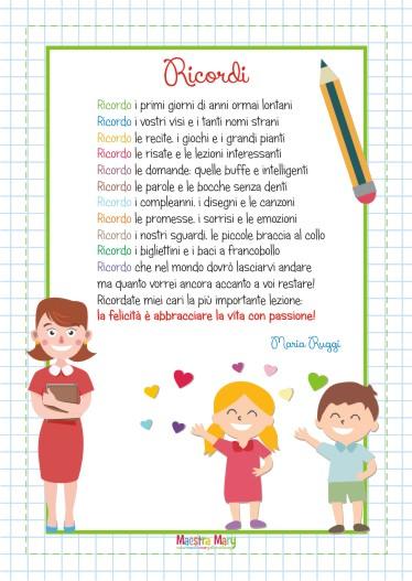 Poesia Ricordi di Maria Ruggi
