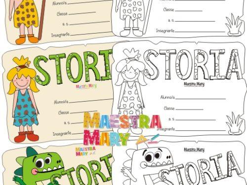 Copertine di storia per la scuola primaria