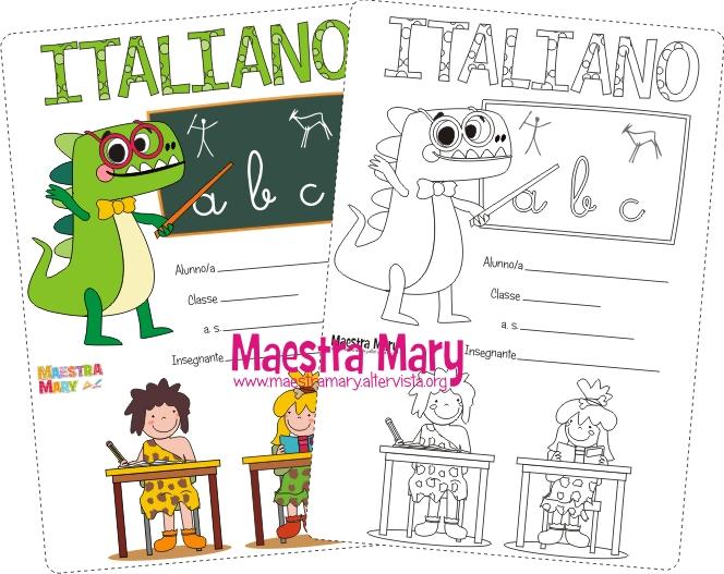 copertina di italiano scuola primaria