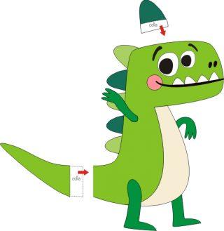 dinosauro da ritagliare e montare