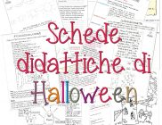 Schede didattiche di Halloween